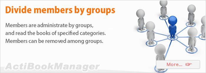 Divide members by groups